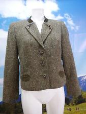 Zeiler wunderschön kurze Jacke mit Leder Applikation Trachtenjacke Gr.42