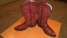 OLATHE Western Cowboy Boots-Made in USA-Custom Handcrafted Leather-9 D color Red