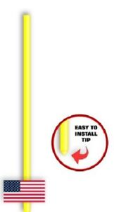 """36 Driveway Snow Road Non-Reflective Markers Poles 48"""" Lime"""