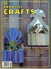 Creative Crafts - October 1980 - Stained Glass Folk Painting Flower Drying Dolls