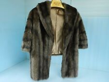 Vintage Womens Opera Style Faux Fur Stole~Wrap With Collar by Glenoit