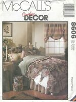 McCall's 8606 Bedroom Essentials Includes Pamplet   Sewing Pattern