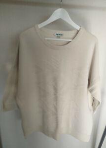DW-Shop Damen Strick Pullover creme weiß Gr. 48/50 XL