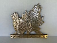 Beautiful Vintage Solid Brass Pineapple key holder wall hanging for 8 keys
