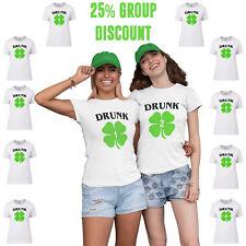 Drunk 1 Drunk 2 Funny St Patricks Day Group Paddy T-Shirt Womens Men Ireland P28
