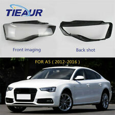 Headlight Lens Headlam Lens Fit For Audi A5 2012-2016 Pair Clear Cover Shell