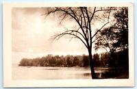 VTG RPPC Real Photo Lake Bonaparte NY New York Adirondacks Boats Dock A2