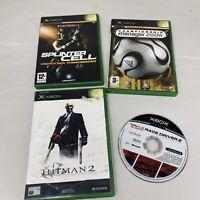 4x Xbox 360 Bundle Splinter Cell Hitman 2 Championshi Manager 2005 TOCA UNTESTED