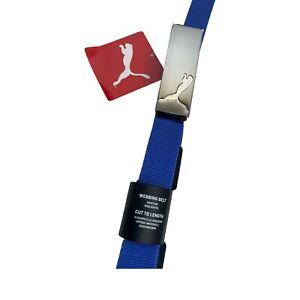 PUMA Dazzling Blue Path Webbing Belt Cut To Length