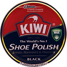 3x Kiwi Black Shoe Polish Shiner Protector 100ml