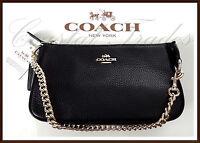Coach Leather Large 19 Wristlet Phone Clutch Bag Purse Satchel BLACK NEW $150