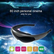 "80"" Android WiFi Smart Video Glasses BT4.0 Intelligent Virtual Media Player E6D5"