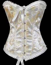 Sexy Lingerie Satin Ivory Grace Corset, Small - Large