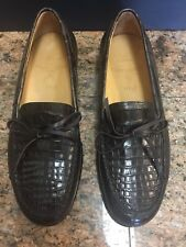 "Limited Edition Polo Ralph Lauren ""Thurston"" Genuine Crocodile Brown Loafers NIB"