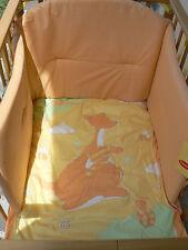NUEVO Somma Niños set cuna edredón extraíble 5 piezas modelo Canguro Naranja
