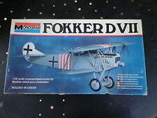 MONOGRAM Kit plastique 1:48 à monter FOKKER D VII complet, pièces en grappe