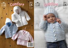 Knitting Pattern King Cole 3013 Jacket Sweater Body Warmer DK