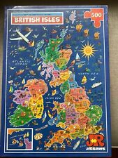 PICTURE PUZZLE MAP BRITISH ISLES. 500 Pieces. JR PUZZLE. NEW. SEALED BOX