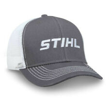 Officially Licensed Stihl Gray Twill cap with white mesh back