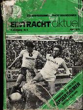 BL 78/79 Eintracht Braunschweig - SV Werder Bremen, 12.04.1979 - Frank Holzer