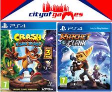 Crash Bandicoot NSane Trilogy & Ratchet and Clank PS4 Games Bundle New & Sealed