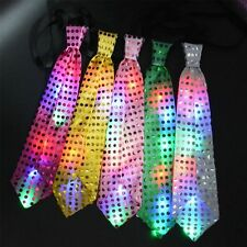Bow Tie  Light Up  Boys  Party  Mens  LED  Sequin Bowtie Necktie  Flashing