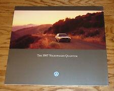 Original 1987 Volkswagen VW Quantum Deluxe Sales Brochure 87