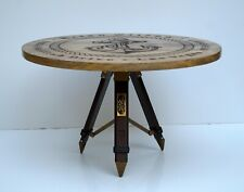 Designer anchor nautical wooden board table tripod stand home office bar decor