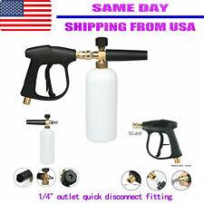 "1/4"" Snow Foam Lance Cannon Soap Bottle Sprayer Pressure Washer Gun Jet Car Wash"
