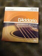 D'Addario Phosphor Bronze Acoustic Guitar Strings EJ15 10/47 From Guitars Wales