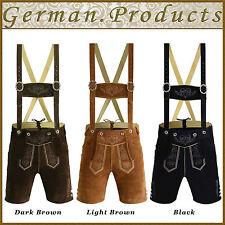 Authentic German Bavarian Oktoberfest Trachten Mens Short Lederhosen Traditional