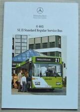 MERCEDES BENZ O405 SL II STANDARD REGULAR SERVICE BUS Sales Brochure June 1993