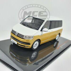 VOLKSWAGEN VW t6 Bus Multivan or//blanc dans 1:43 Ixo clc351n