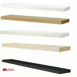 Ikea Lack Wall Shelves Floating Display 59x26  Concealed Mounting