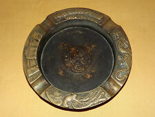 VINTAGE TOBACCO CIGARETTES CHINESE DRAGON BIRD METAL ASHTRAY