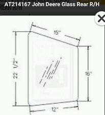 New Oem Jd John Deere 120 160lc 200lc 230lc Excavator Cab Rear Rh Glass At214167