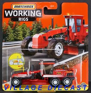 2021 Matchbox Working Rigs #4 MBX Road Grader™ RED / ADLER R125 GRADER / MOC