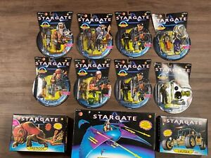 Large 1994 Stargate Movie Action Figure Lot - Characters & Vehicles