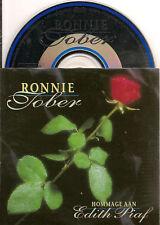 RONNIE TOBER hommage aan EDITH PIAF CD SINGLE 2TR 1995