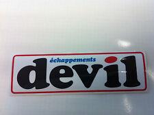 Autocollant Sticker Decal DEVIL échappements 16 cm X 5 cm