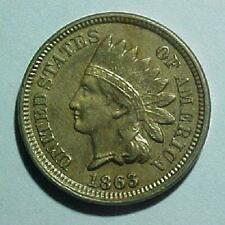 1863 Indian Head Penny - Nice Original Coin