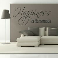 Happiness is Homemade - Removable Wall Quote / Large Interior Wall Quote DAQ16