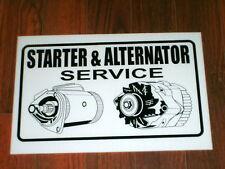 Auto Repair Shop Sign: Starter & Alternator Service