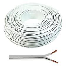 Lautsprecherkabel 50m - 2x2,5mm² - 100% CCA Kupfer ; Audiokabel - weiß