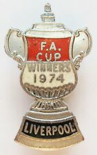 More details for liverpool - superb vintage 1974 fa cup winners enamel football pin badge by aew