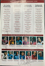 More details for signed 1998 pfa dinner menu inc. bergkamp,owen, giggs