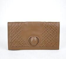 Neu Authentisch Bottega Veneta Leder Clutch Handtasche Braun 301233 2517