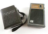 Vintage Juliette APR-206A Pocket AM Transistor Radio w/Case, Tested Working READ