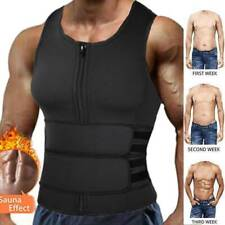 Men Sauna Suit Sweat Vest Tank Top Neoprene Shirt Body Shaper Waist Trainer GYM