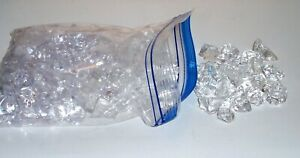 150+ PCS CLEAR FAUX ICE CUBES -  FOOD DISPLAY - GLASS FILLERS - VASES